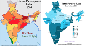 India HDI Fertility Map