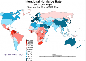 World Murder Rate Geocurrents Map
