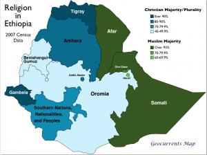 Ethiopia Religion Map
