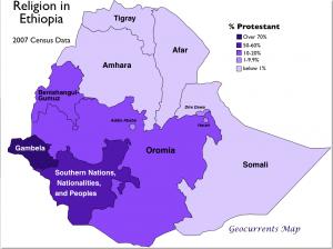 Ethiopian Protestantism Map
