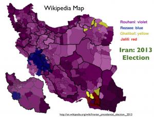 Iran 2013 Election Map