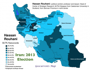 Iran 2013 Election Rouhani Map
