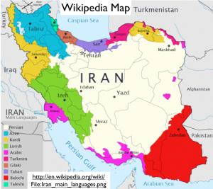 Iran Wikipedia Language Map