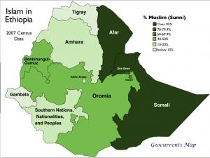 Islam Ethiopia Map