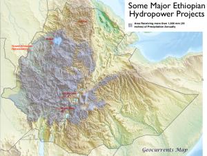 Map of Major ETthiopian Dams