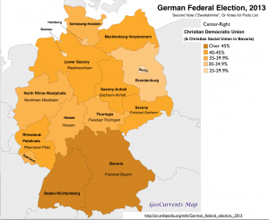 German Election 2013  CDU vote Map