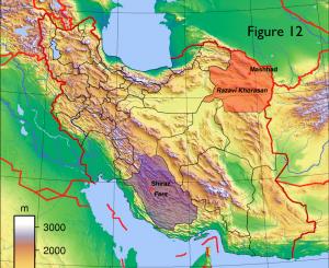 Iran Physical Map Overlay
