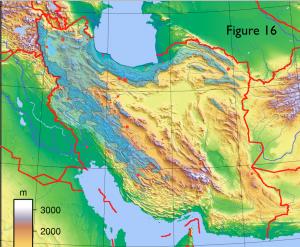 Iran Physical Surplus Precipitation Map
