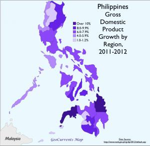 Philippiones Economic Growth Map