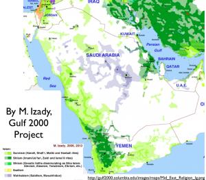 M. Izady's Arabian Religion Map