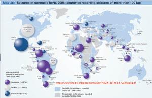 cannabis seizures map
