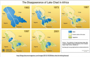 Shrinking Lake Chad Map