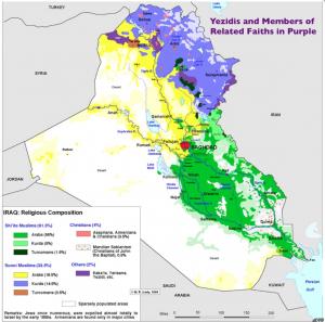 Yezidis map